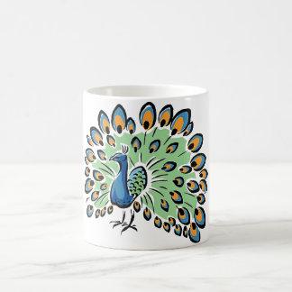 Colorful Cartoon Peacock Coffee Mug