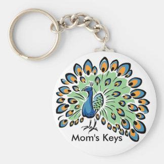 Colorful Cartoon Peacock Keychain