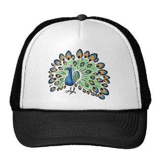Colorful Cartoon Peacock Trucker Hat