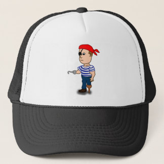 Colorful Cartoon Pirate Sailor Trucker Hat
