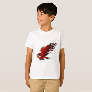 Colorful cartoon red and black eagle hawk falcan T-Shirt