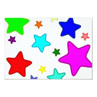 Colorful Cartoon Stars Card