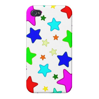 Colorful Cartoon Stars iPhone 4/4S Cases