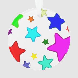Colorful Cartoon Stars Ornament