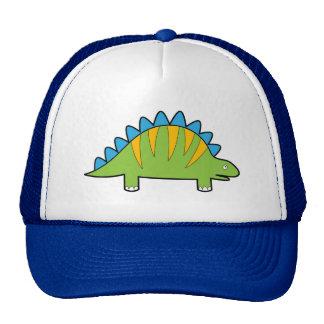 Colorful cartoon stegosaurus dino trucker hats