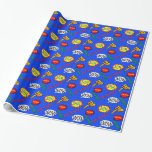 Colorful Cartoon Super Hero Action Wrapping Paper