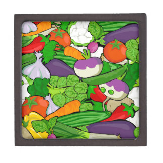 Colorful Cartoon Vegetables Jewelry Box
