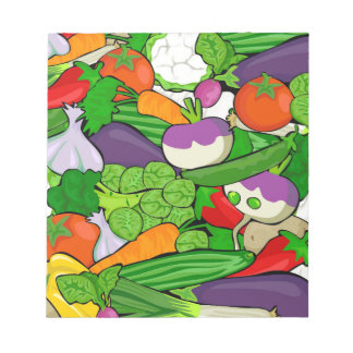 Colorful Cartoon Vegetables Notepad