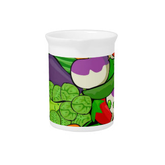 Colorful Cartoon Vegetables Pitcher