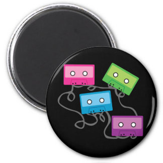 Colorful Cassette Tapes 2 Inch Round Magnet