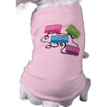 Colorful Cassette Tapes Doggie T Shirt