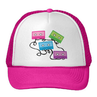 Colorful Cassette Tapes Hats
