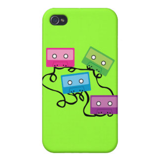 Colorful Cassette Tapes iPhone 4/4S Covers