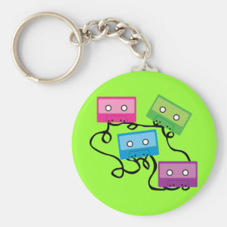 Colorful Cassette Tapes Keychain