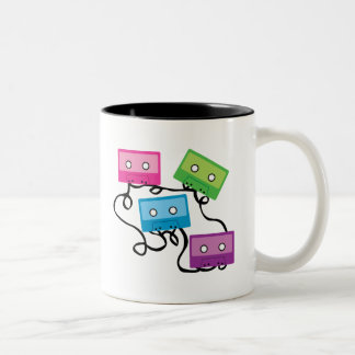 Colorful Cassette Tapes Coffee Mugs