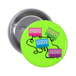 Colorful Cassette Tapes Pinback Button