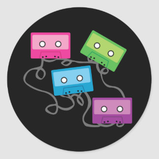 Colorful Cassette Tapes Sticker