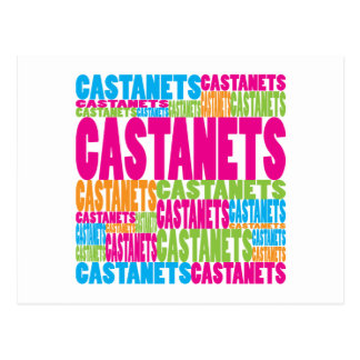 Colorful Castanets Postcard