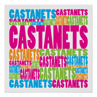 Colorful Castanets Poster