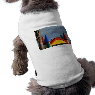 Colorful castle against blue sky doggie tshirt