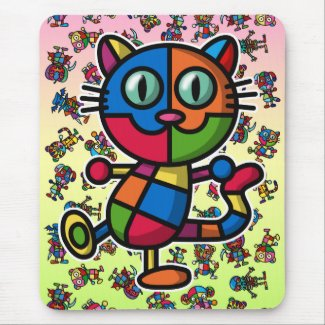 colorful cat2 mouse pads