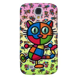 colorful cat2 samsung galaxy s4 covers