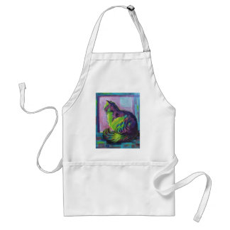 Colorful cat adult apron
