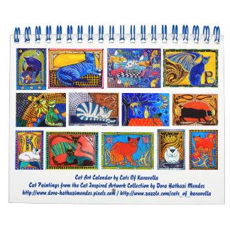 Colorful Cat Art Calendar 2018 for Cat Lovers