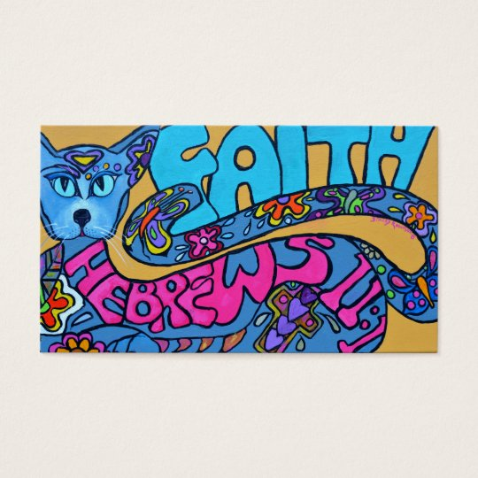 Colorful Cat Business Card