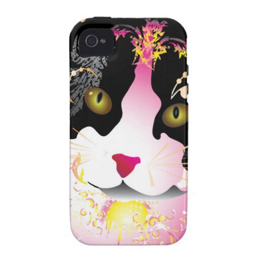 Colorful cat vibe iPhone 4 case