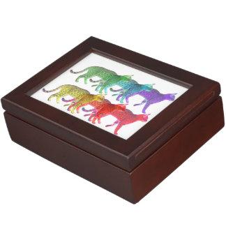Colorful Cat Crowd Memory Box