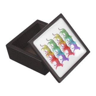 Colorful Cat Crowd Premium Trinket Boxes