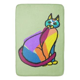 Colorful Cat Hero Bath Mat