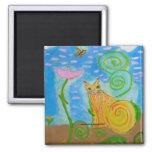 Colorful Cat Magnet of Venus