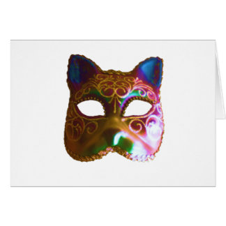 Colorful Cat Mask Card
