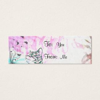 Colorful Cat Mini Business Card