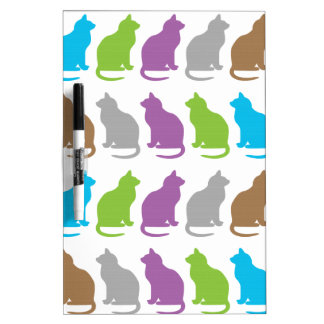 Colorful cat pattern dry erase board