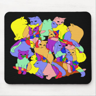Colorful Cat Pattern Mousepads