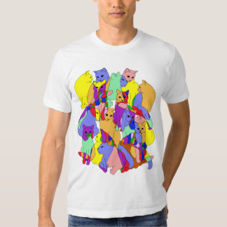 Colorful Cat Pattern Tshirt