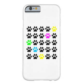 Colorful Cat Paws Barely There iPhone 6 Case