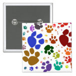 colorful cat paws buttons