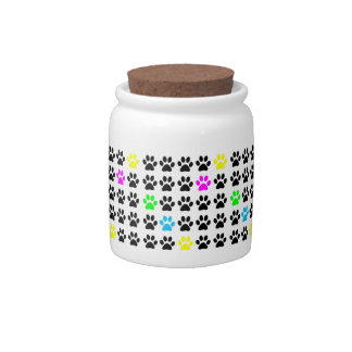 Colorful Cat Paws Candy Jar