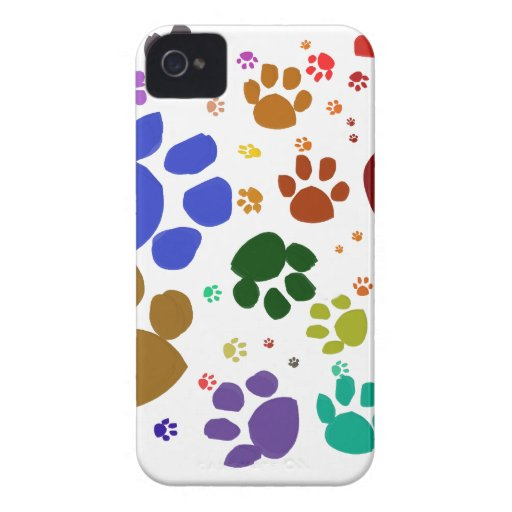 colorful cat paws blackberry bold cover