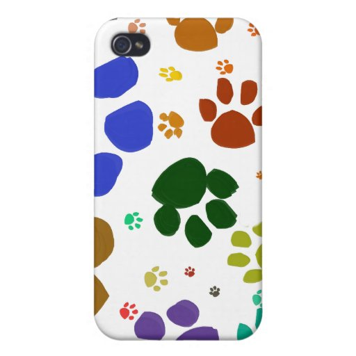 colorful cat paws covers for iPhone 4