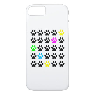 Colorful Cat Paws iPhone 7 Case