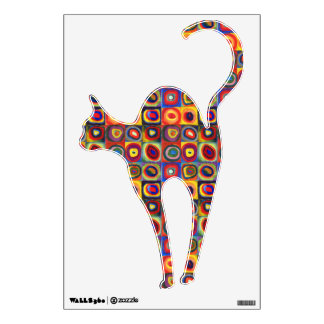 Colorful Cat Wall Sticker