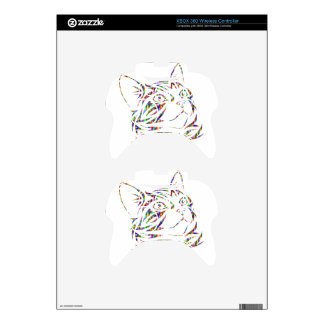 colorful cat xbox 360 controller skins