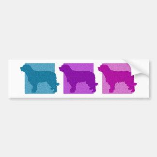 Colorful Catalan Sheepdog Silhouettes Bumper Sticker