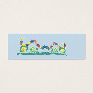 Colorful Caterpillar Bookmark Mini Business Card