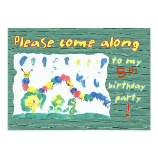 Colorful Caterpillar Card